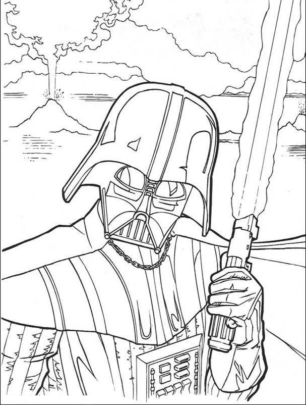 Darth Vader Star Wars Coloring Pages - Star Wars Coloring Pages