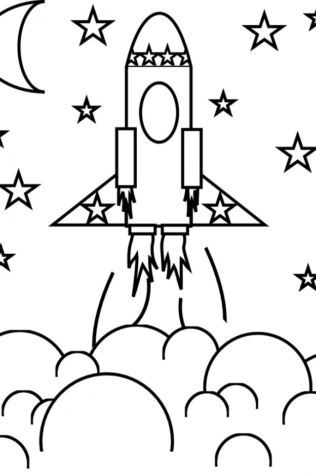Rocketship Coloring Pages AZ