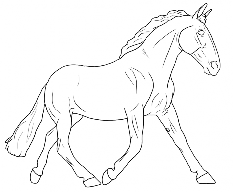 breyer horse coloring pages printable - photo#1