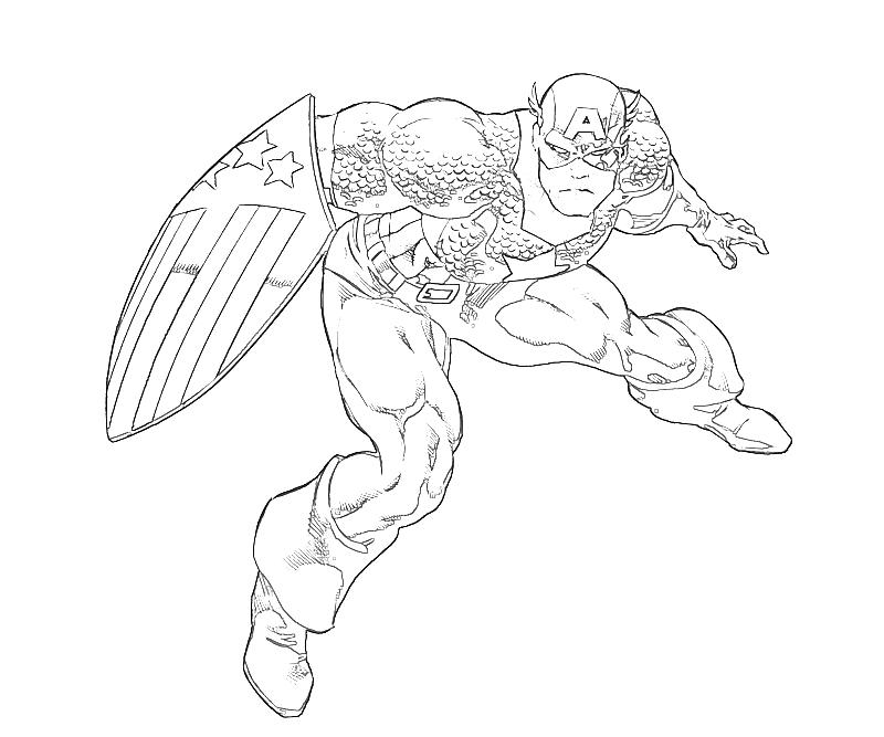 Free Printable Captain America Coloring Pages For Kids - Coloring Home