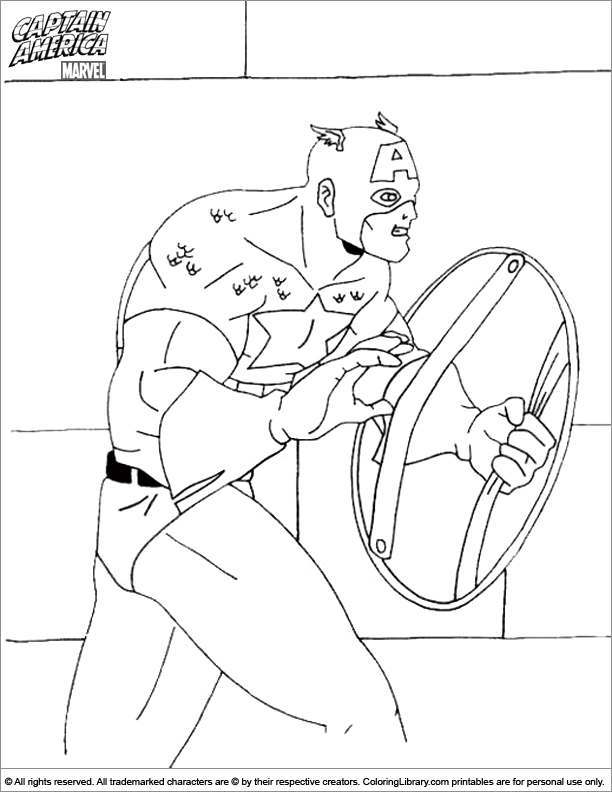 Captain America Shield Coloring Page  Coloring Home