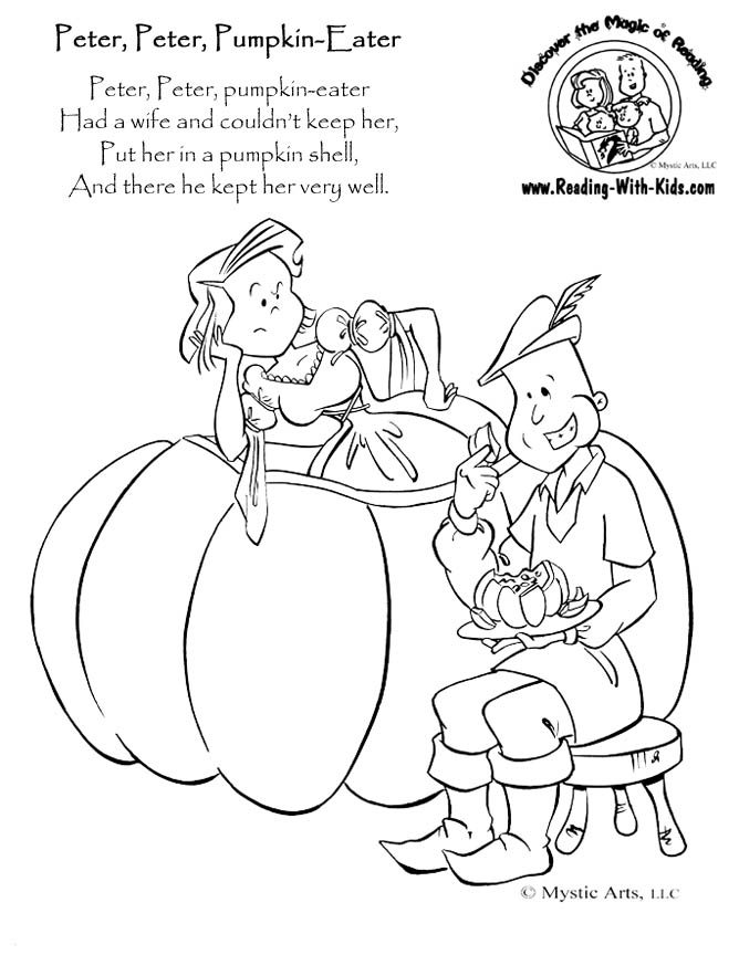 pease porridge hot coloring pages - photo#7