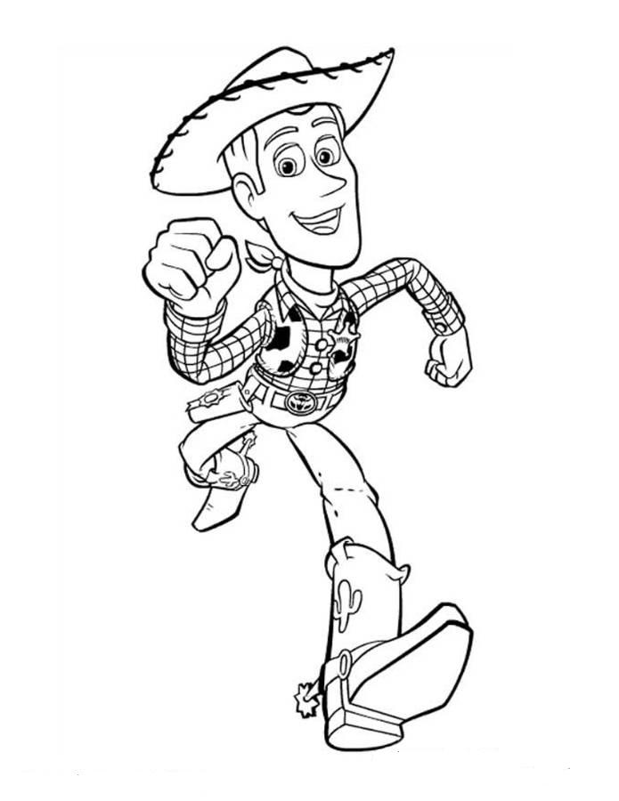 toy story woody coloring page pictures