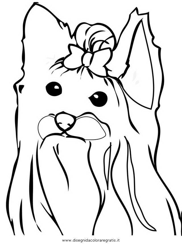 Line Drawing Yorkie : Yorkie coloring page home