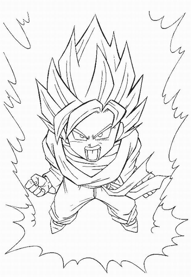 download video dbgt coloring pages - photo#42