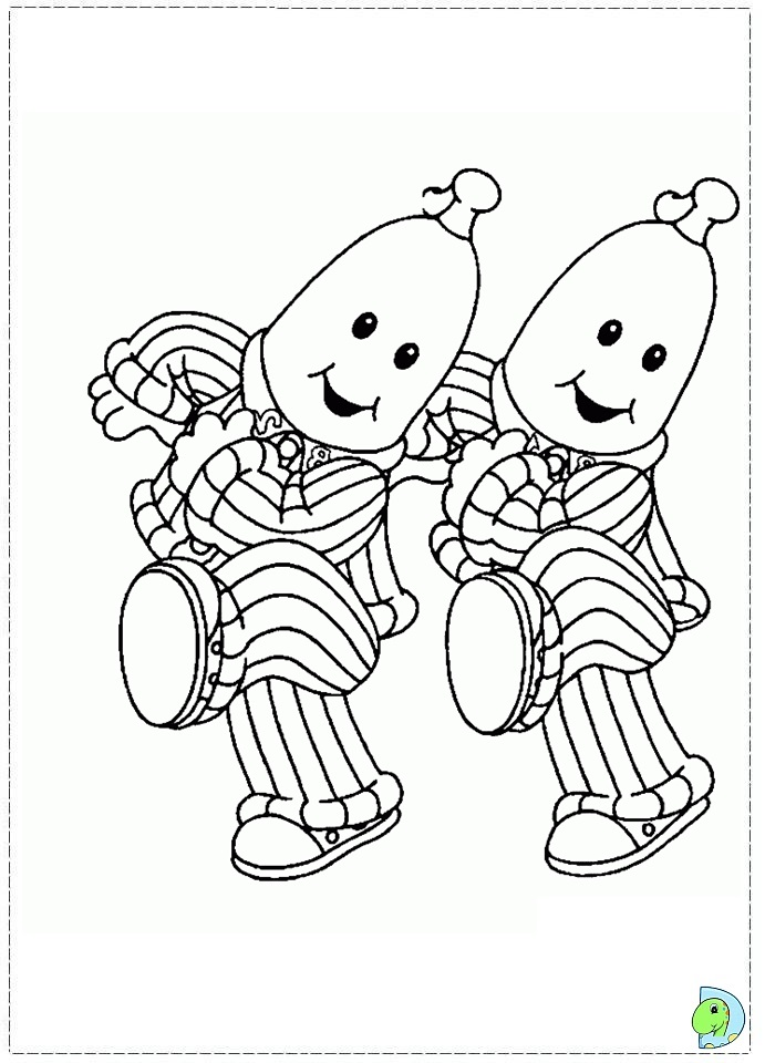 amy in bananas in pajamas Colouring Pages