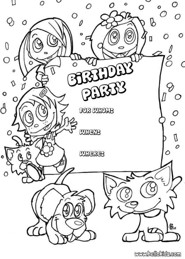 Trolls Party | Birthday coloring pages, Happy birthday coloring ... | 900x643