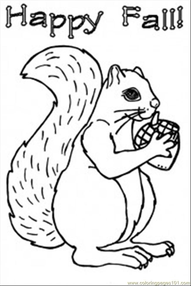 Squirrel Coloring Pages Free