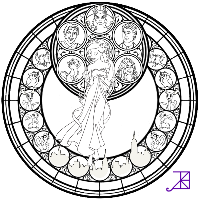 Disney Coloring Pages Glass - Coloring Home