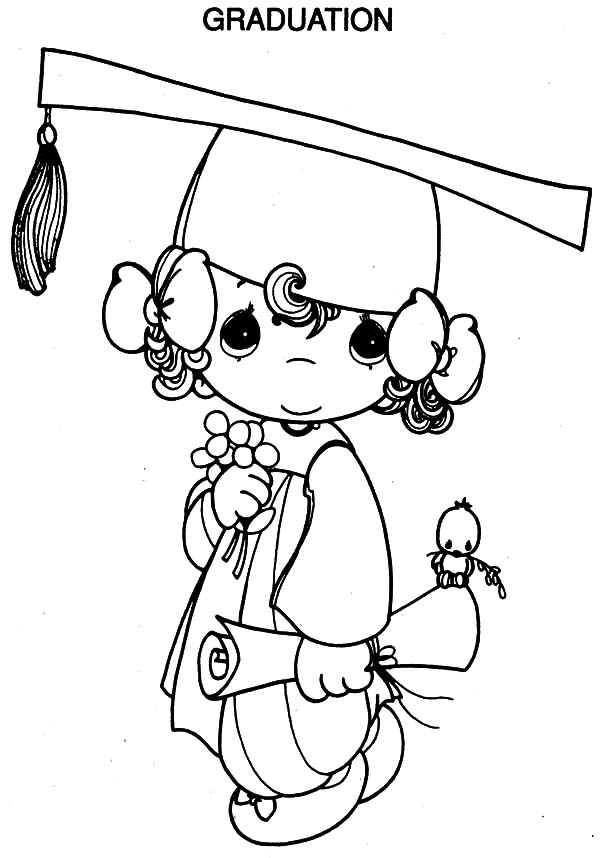 Coloring pages graduation coloring home for Graduation cap and diploma coloring pages