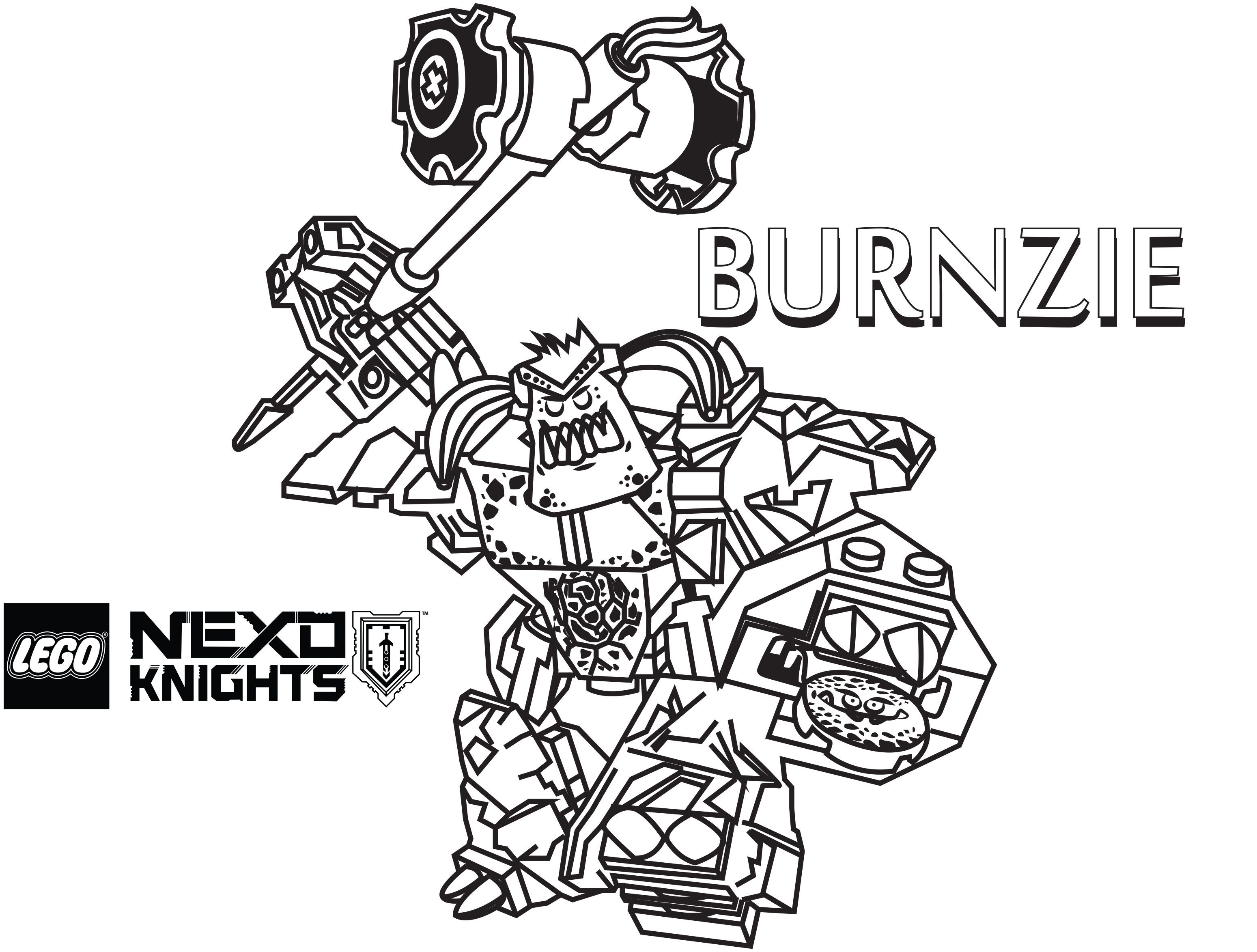 - LEGO Nexo Knights Coloring Pages : Free Printable LEGO Nexo