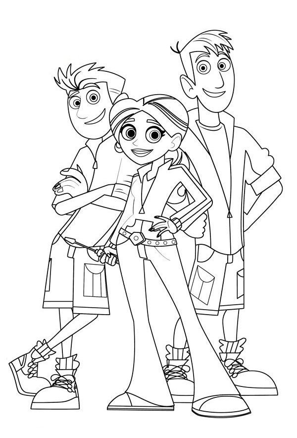 wild kratts coloring pages discs - photo#15