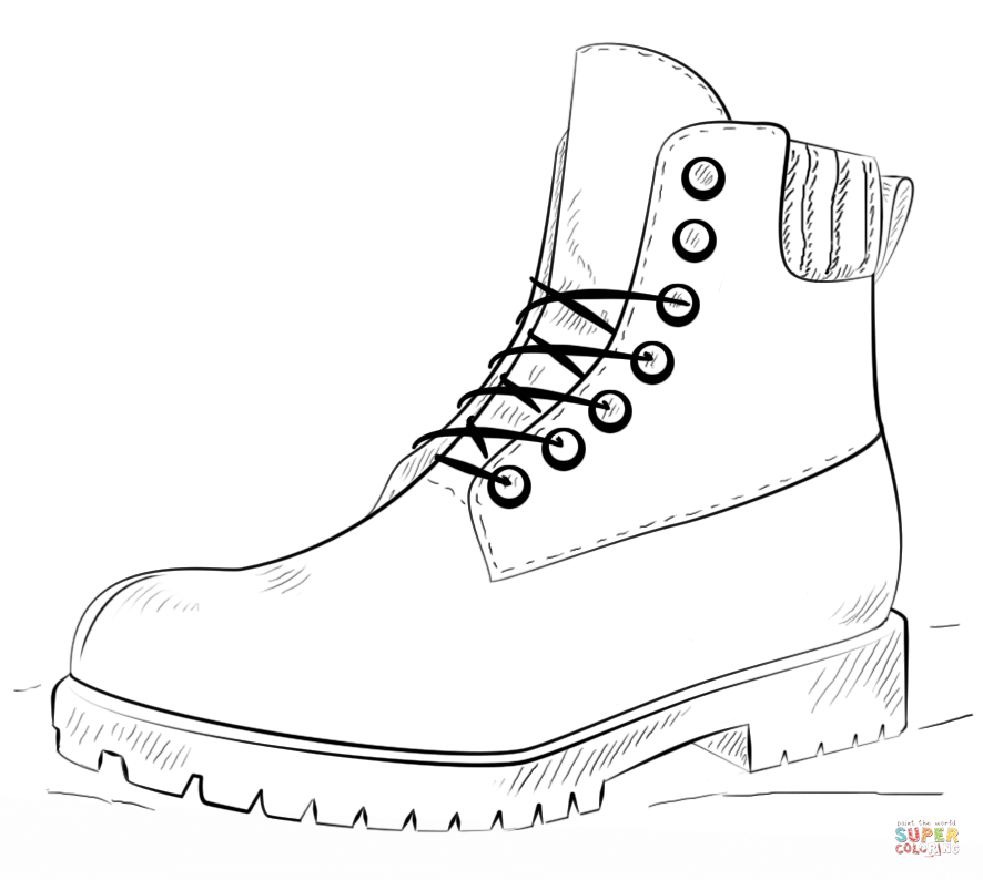 boot coloring pages - photo#25