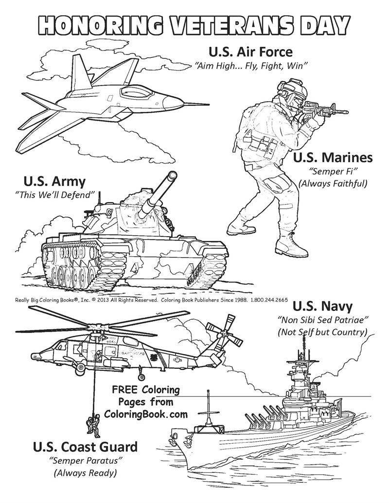 Coloring Pages For Veterans Day Printables : Veterans day coloring pages free az