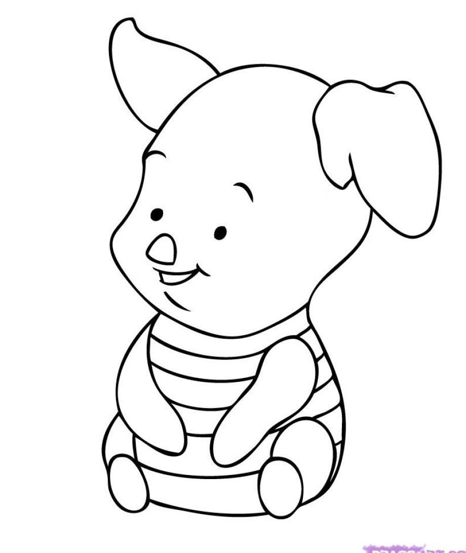 Cute Disney Character Coloring Pages - Coloring Home