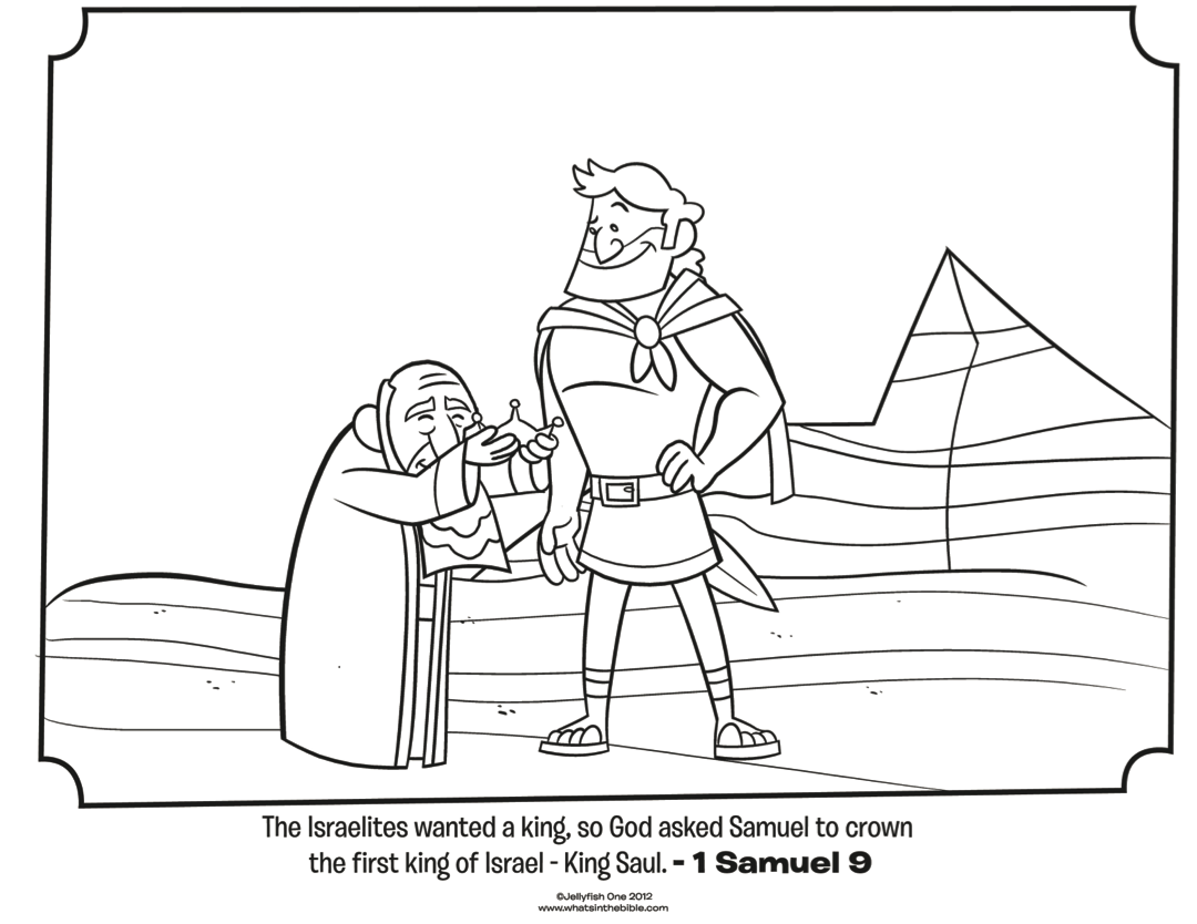 King Saul And David In Cave Coloring Pages