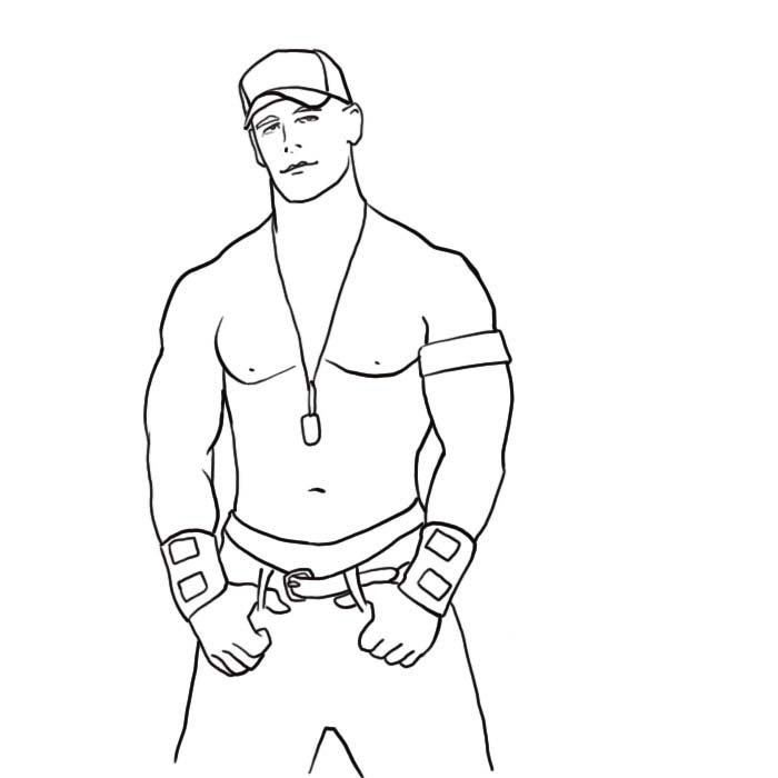printable john cena coloring pages - photo#5