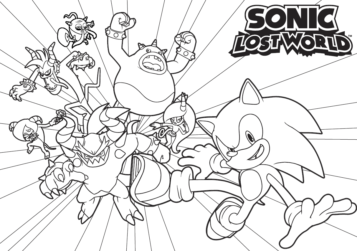 sonic coloring page - sonic boom coloring pages to print coloring home
