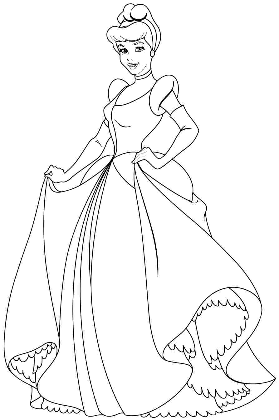 printable cinderella coloring pages - free printable cinderella coloring pages for kid