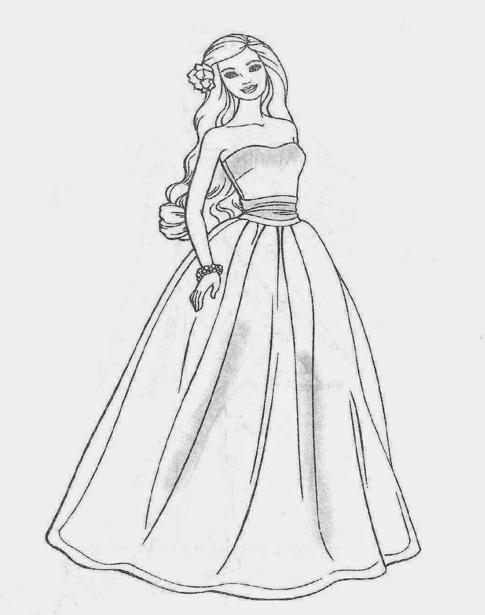 Barbie Cartoon Coloring Pages