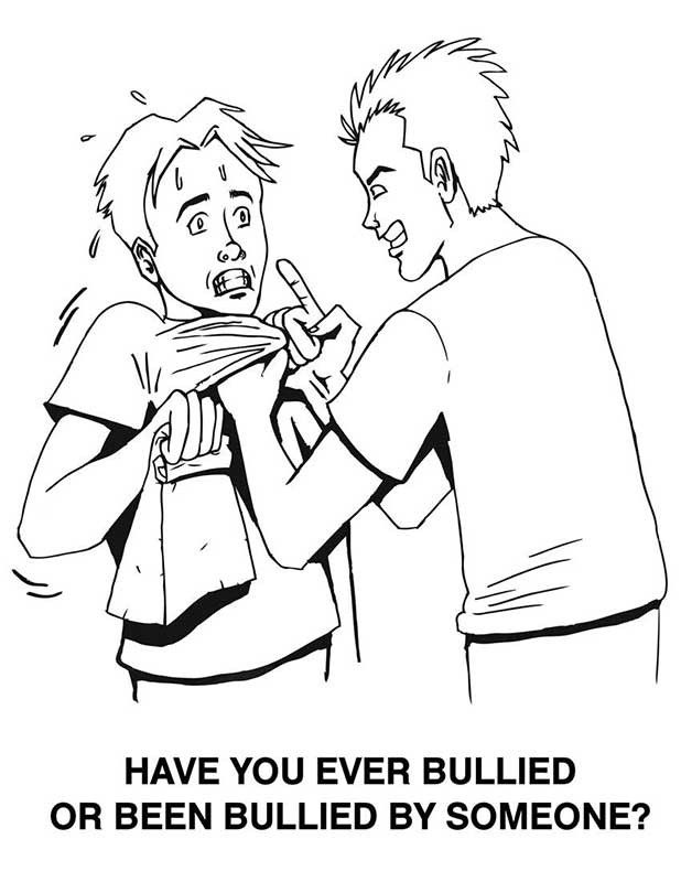 bullying coloring pages - Max Coloring
