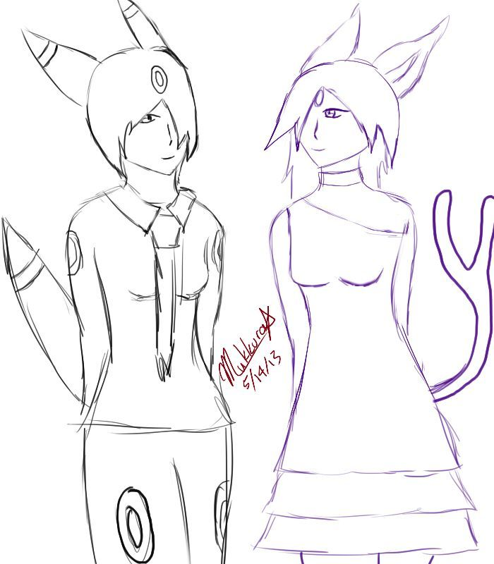Espeon And Umbreon Coloring Pages Umbreon Espeon Colouring Pages