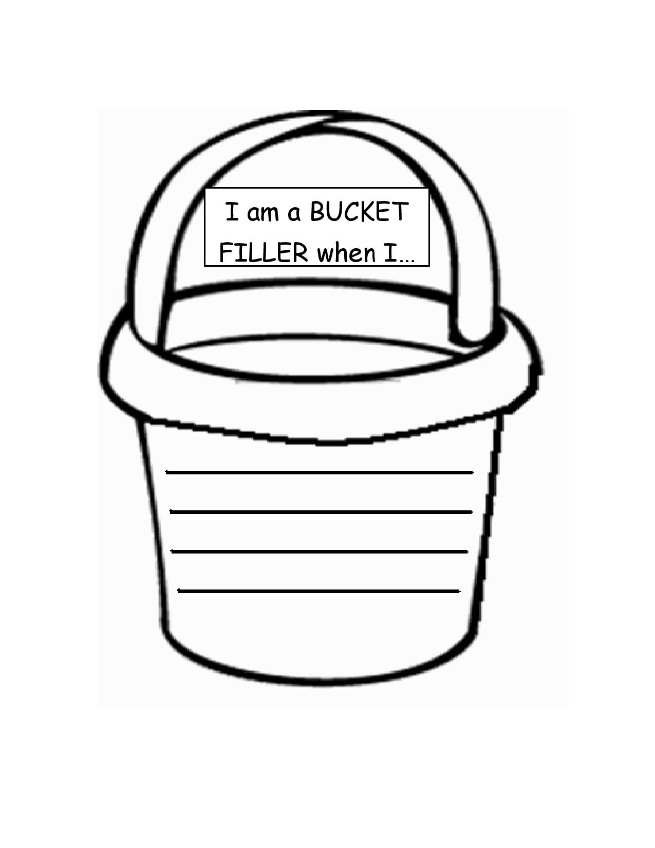 7 Best Images Of Bucket Filler Printables Coloring Page   Bucket .