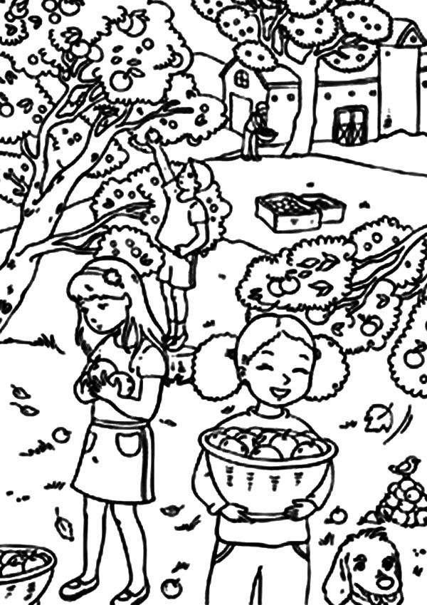 yard work coloring pages - photo#49