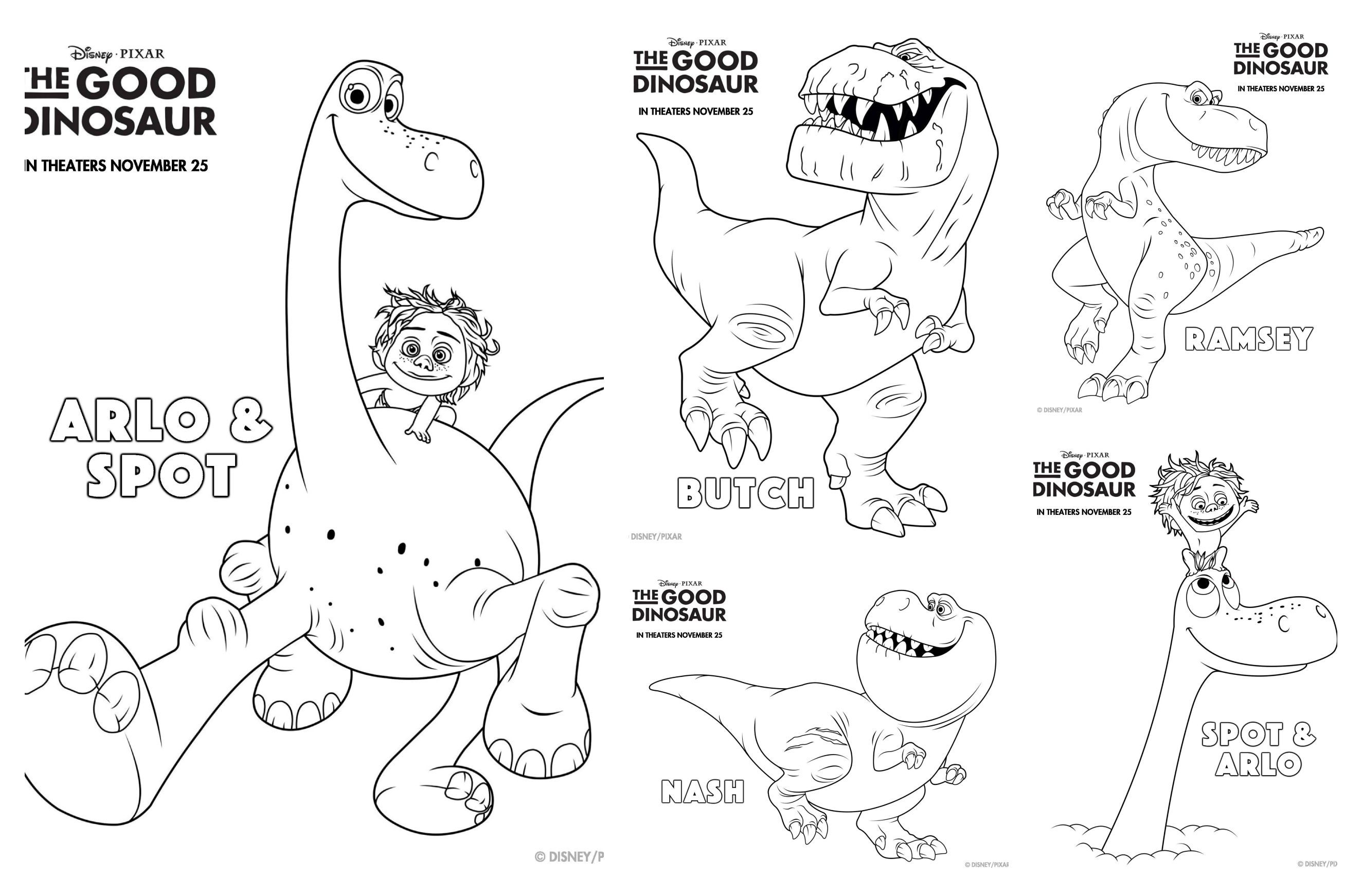 The Good Dinosaur Coloring Pages Coloring Home