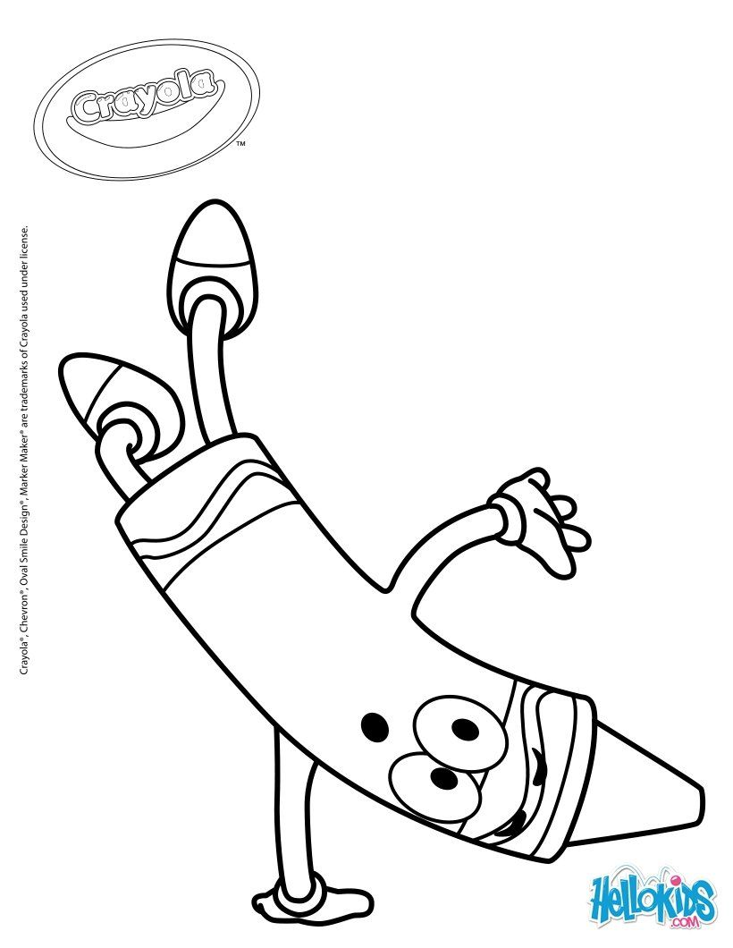 Uncategorized Crayons Coloring Pages crayola crayon coloring pages home yellow page hicoloringpages school markers 19