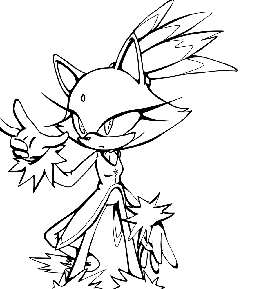 14 Pics Of Sonic Blaze Coloring Pages Sonic Blaze The Cat