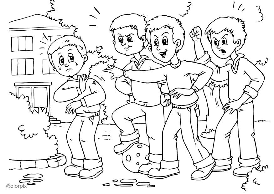 Ability Printable Anti Bullying Colouring Pages