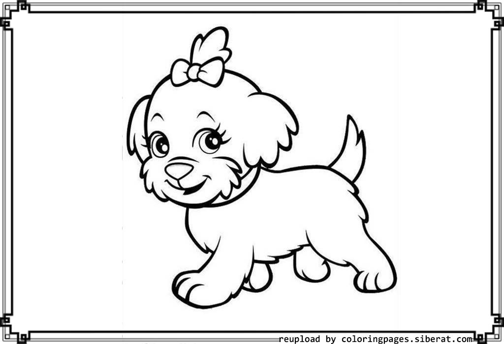 Cute Baby Puppies Coloring Pages - Coloring Home