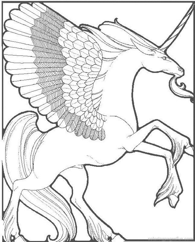 unicorn fantasy myth mythical mystical legend coloring pages ...