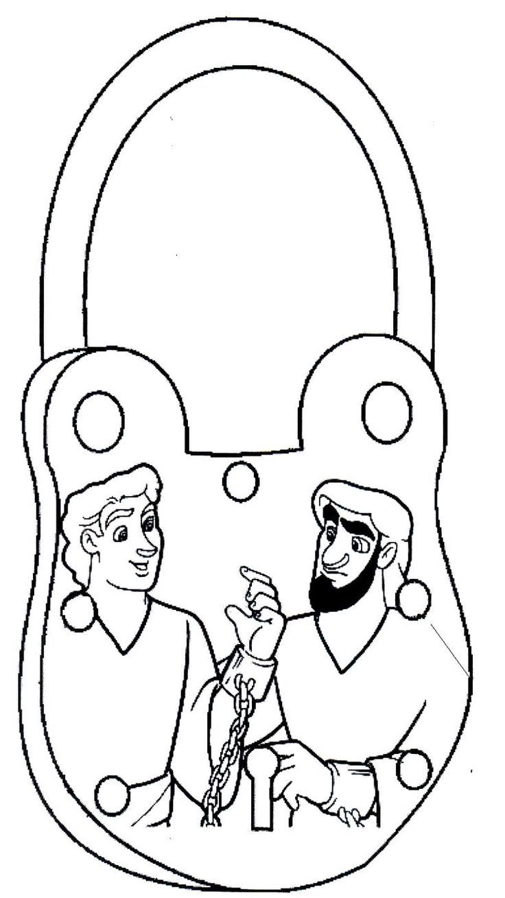 paul and timothy coloring pages - photo#15