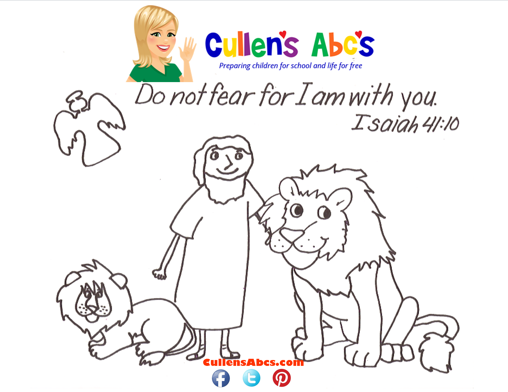 Key Point Coloring Page Daniel In The Lions Den