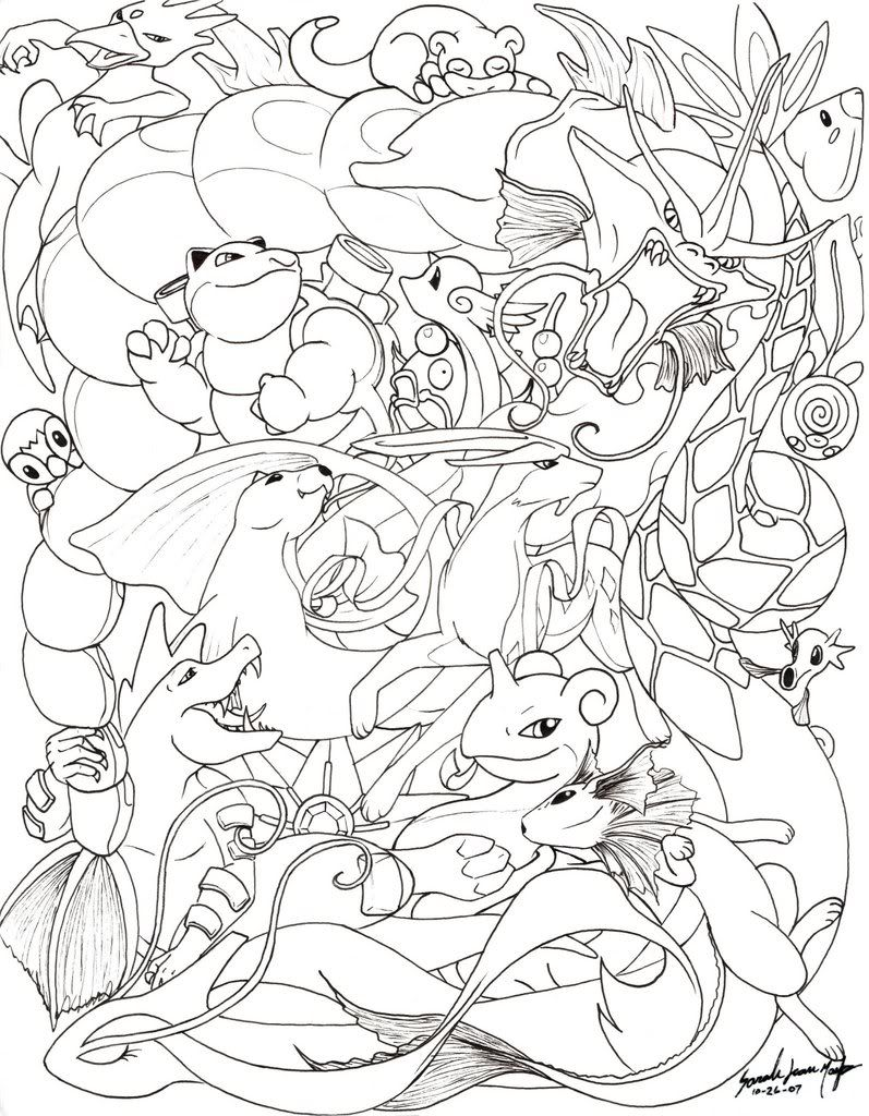 region pokemon coloring pages - photo#14