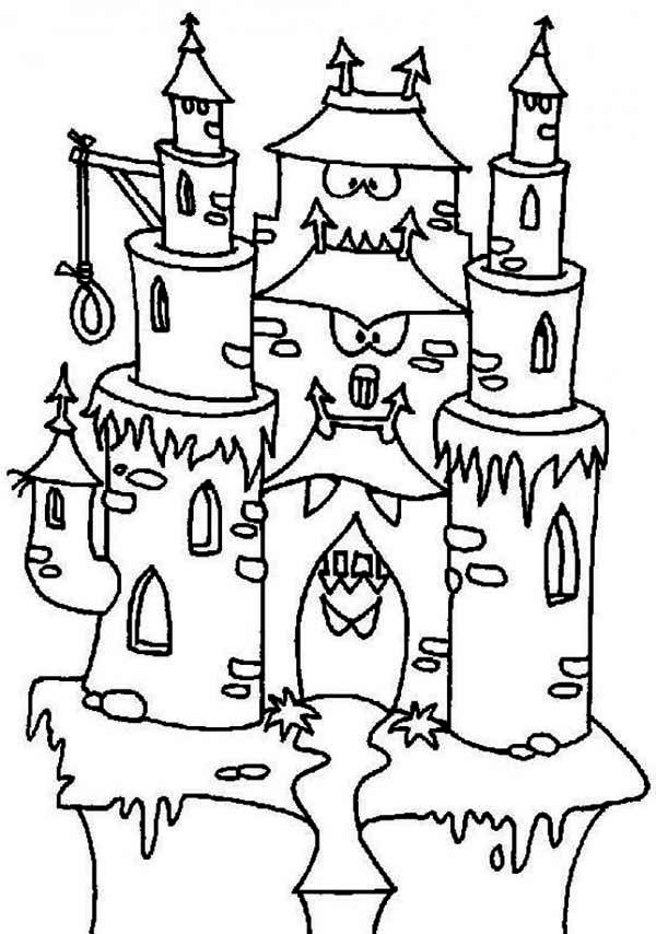 Monster House Free Colouring Pages