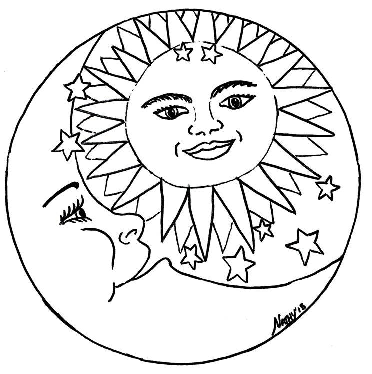 free wiccan coloring pages - photo#7