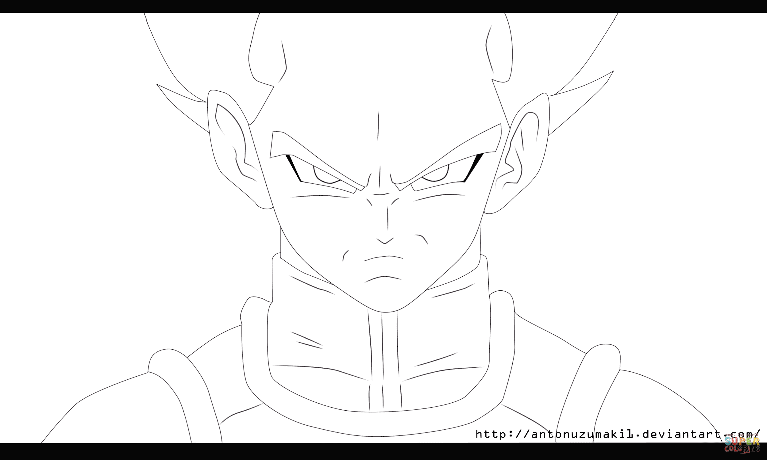 Vegetta from Dragon Ball Z coloring page | Free Printable Coloring ...