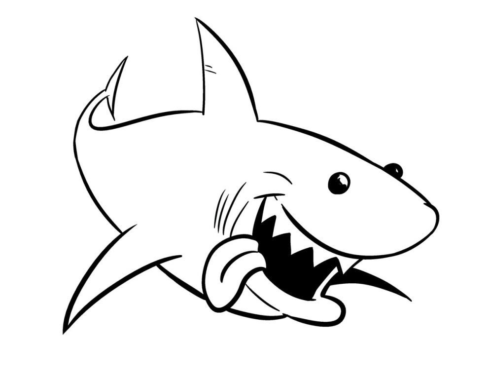 Shark coloring - photo#15