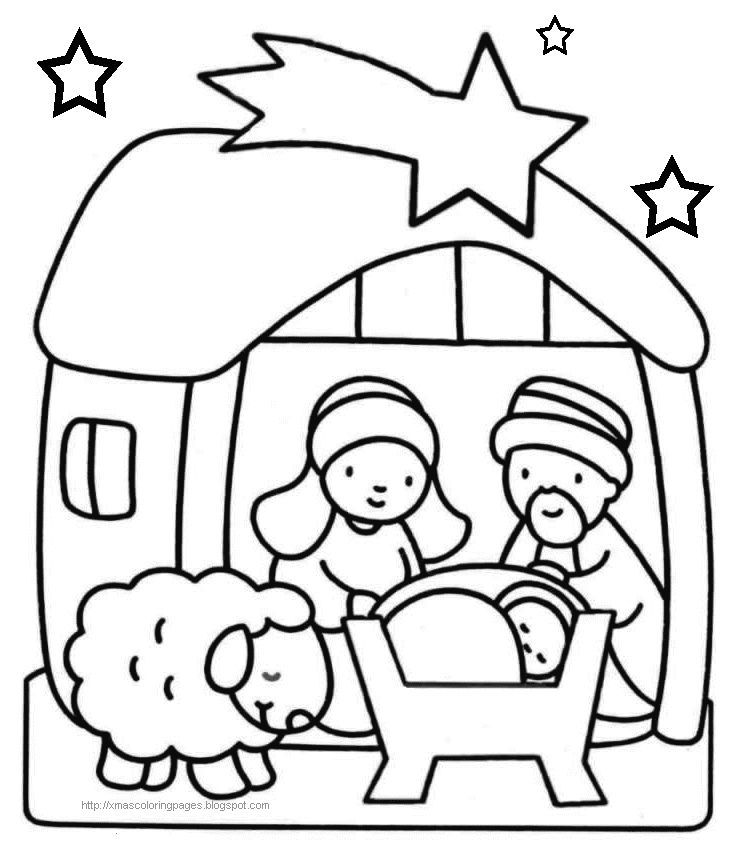 xmas coloring baby jesus nativity coloring pages holiday