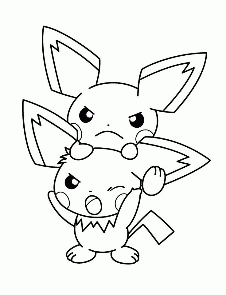 Coloring Pages Of Pokemon Pokemon Coloring Pages Baby Shower