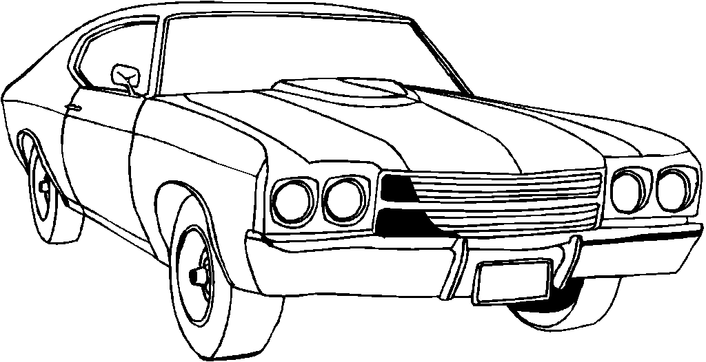 classic car coloring pages for kids and for adults