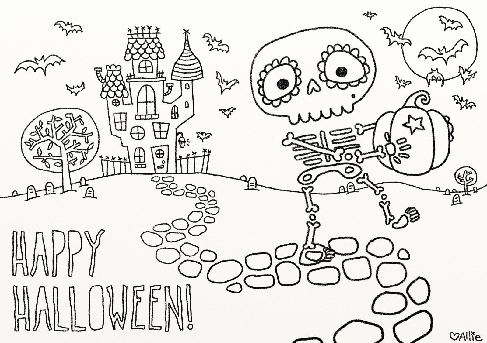 minions coloring pages halloween skeleton - photo#26