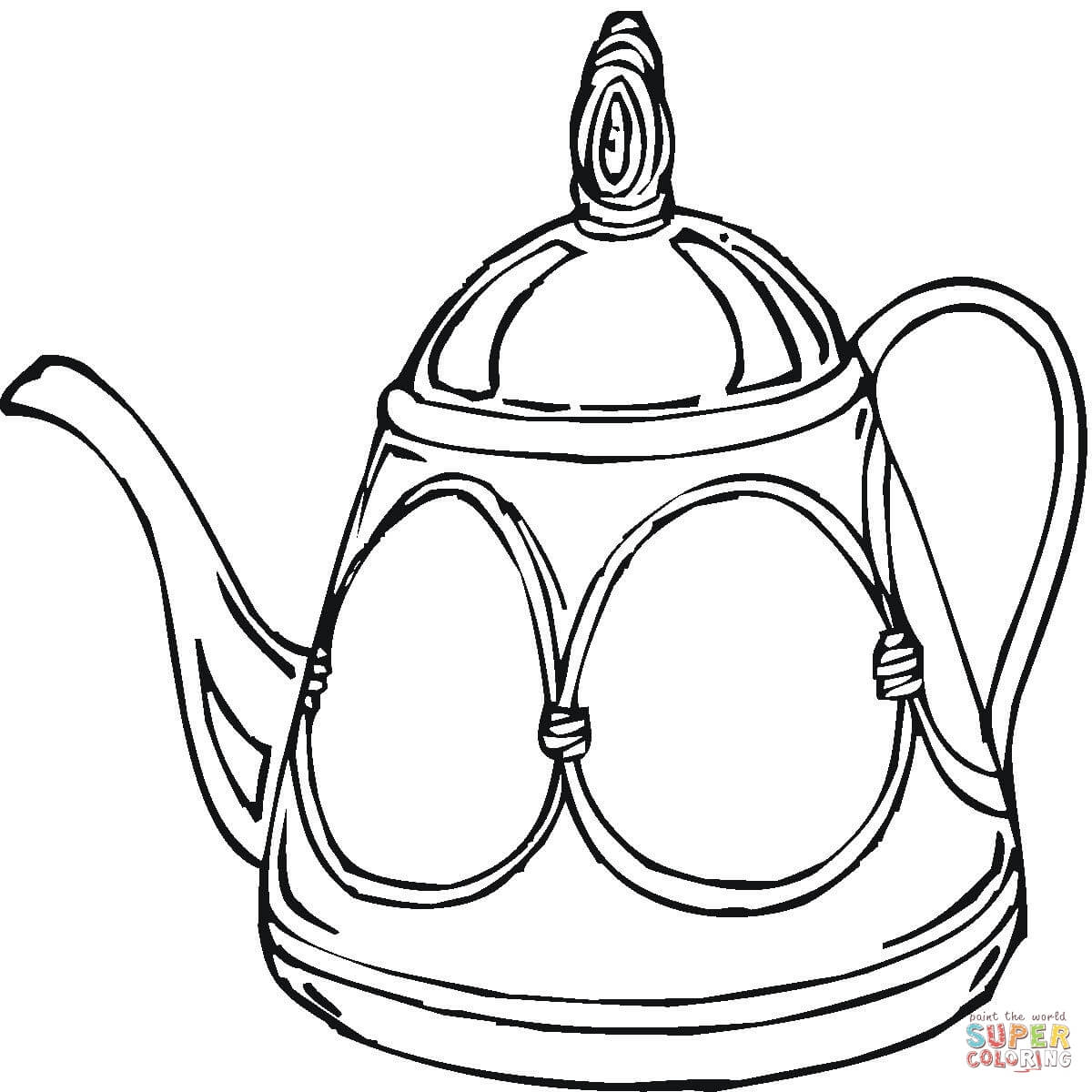 Teapot Coloring Page Free Printable Coloring Pages Coloring Home