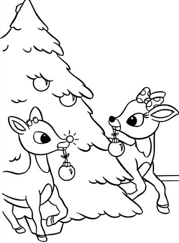 free rudolph coloring pages for kids | Coloring Pages Rudolf - Coloring Home