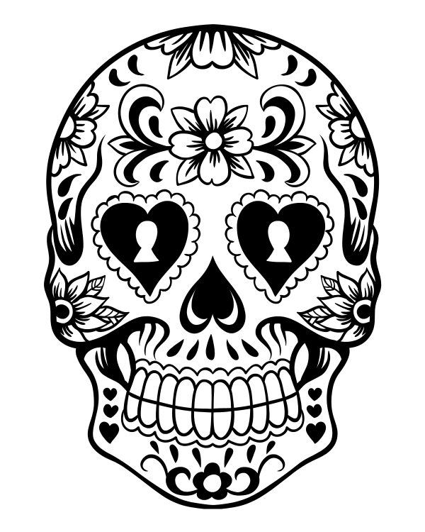Sugar Skull Coloring Page Az Coloring Pages Sugar Skull Coloring Pages Print Printable