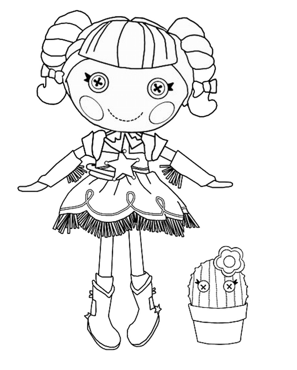 Lalaloopsy coloring pages online coloring home for Free printable lalaloopsy coloring pages