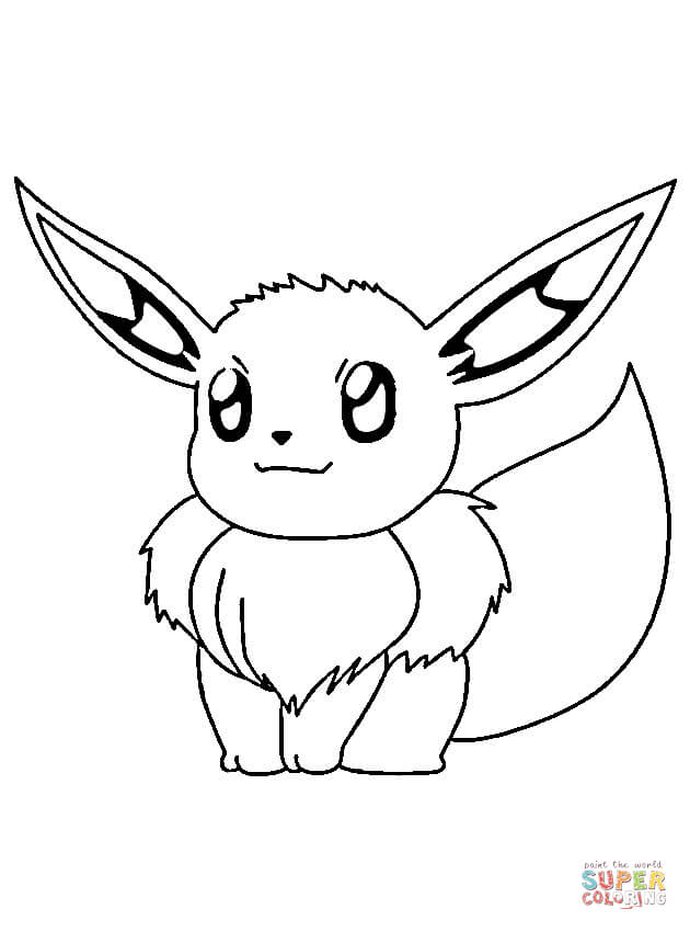 Eevee Pokemon coloring page | Free Printable Coloring Pages